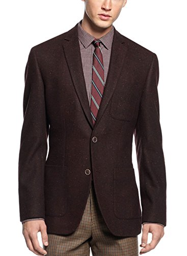 BAR III Carnaby Collection Slim Fit Blazer 38 Short 38S Wine Color Sportcoat