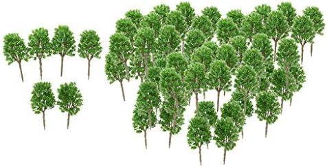 F Fityle 1:30 スケール 樹木 モデルツリー 鉄道模型 ジオラマ 箱庭 建築模型 電車模型 シーン レイアウト約6 0個