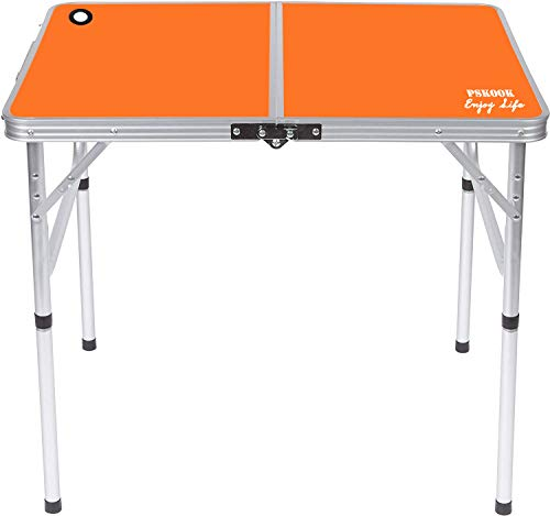 PSKOOK Folding Camping Table Picnic Table Perfect Size for Travel BBQ Beach Portable Lightweight...