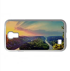 Saar Loop At Mettlach, Germany Watercolor style Cover Samsung Galaxy S4 I9500 Case (Germany Watercolor style Cover Samsung Galaxy S4 I9500 Case)