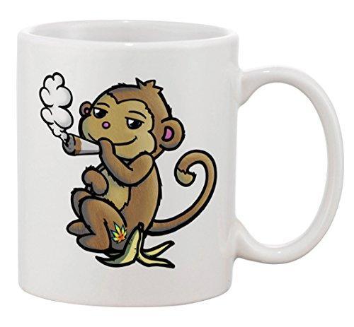 Ceramic Coffee Mug - Pot Smoking Pals Monkey ()