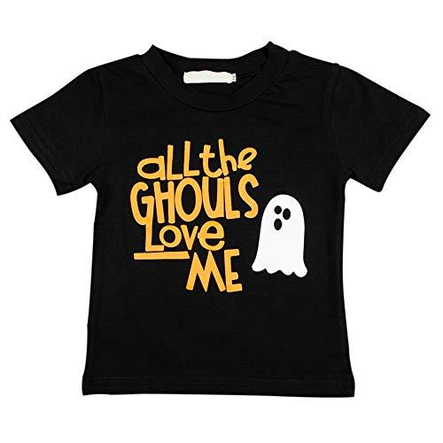 Bornbayb Baby Toddler Boys' Halloween Short Sleeve T-Shirt