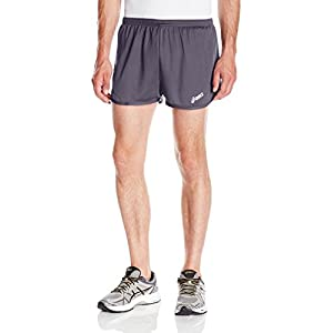 ASICS Men's Rival Ii 1/2 Split Shorts, Large, Steel Grey