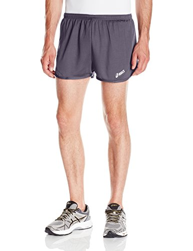 ASICS Men's Rival Ii 1/2 Split Short, Steel Grey, Small (Running Shorts Split)