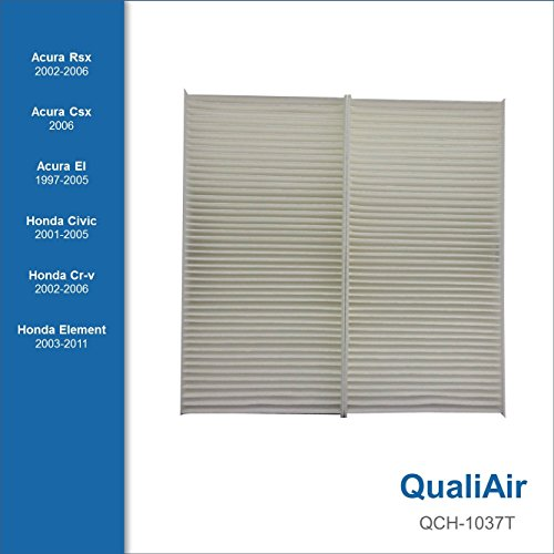 QualiAir QCH-1037T, Cabin Air Filter for Acura, Honda (1Pack)