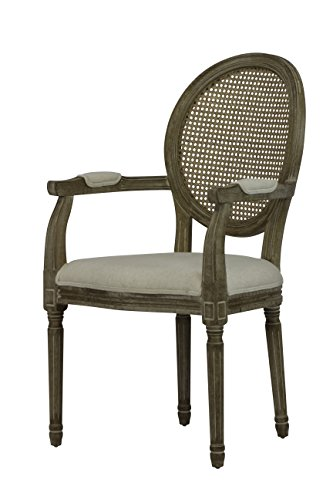 Cane Back Set Chairs - Louis Weathered Cane Round Chair (Set of 2)