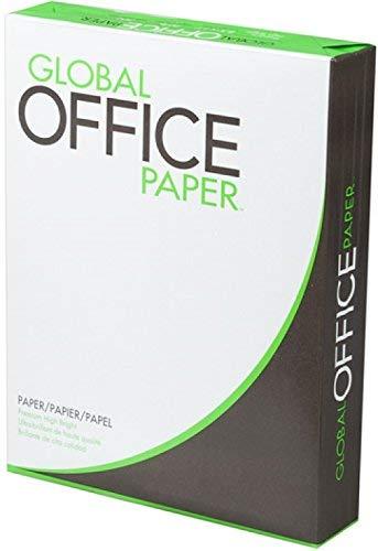 Global Office Paper GO851120 - Cartulina láser de alta luminosidad (tamaño de letra de 21,6 x 28 cm, densidad de 20 libras,...