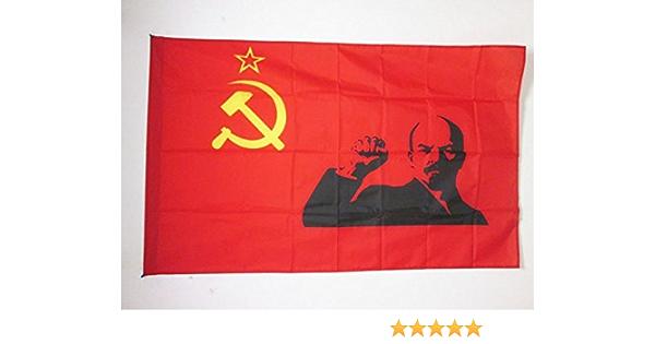 AZ FLAG Bandera de la URSS con Lenin PUÑO EN Alto 150x90cm para Palo - Bandera Comunista SOVIÉTICA 90 x 150 cm: Amazon.es: Hogar