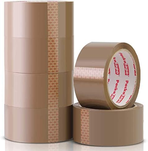 Tape Pack Tape Parcel Tape-Strong-Transparent Brown 40m 48mm 42my-Roll