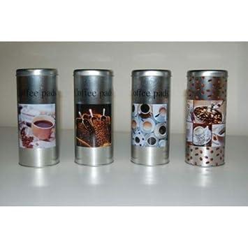 Streudose Streuer Metall mit Griff mit Coffee Motiv f/ür Puderzucker Kakao Backzutaten 3 St/ück