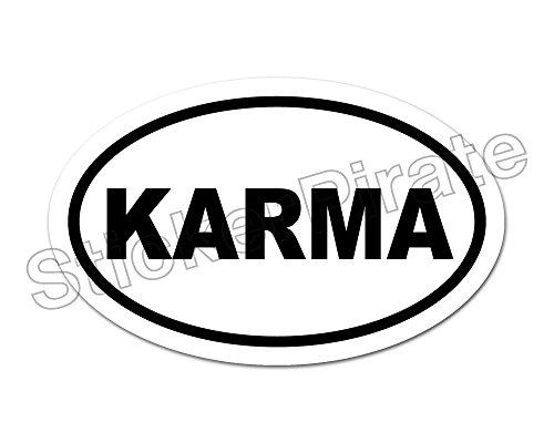 Oval Car Magnet KARMA Magnetic Bumper Sticker ()