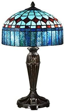 Chloe CH18767IV30-PL2 Dulce Tiffany-Glass Victorian Pedestal Light Fixture with 30 Tall