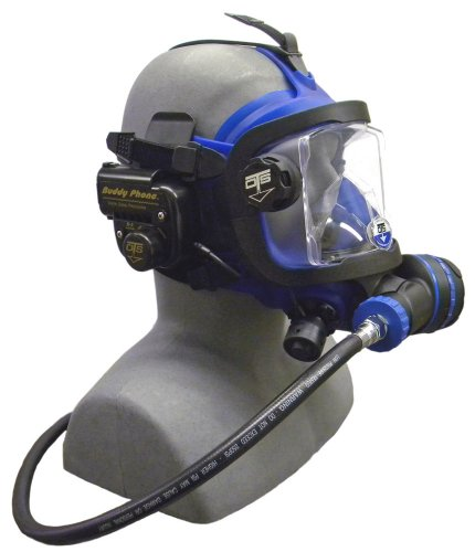 OTS Guardian Full Face Mask with Buddy Phone (Black Skirt/Blue Hardware) ()