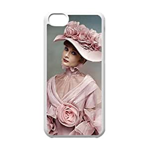 D-PAFD Print Audrey Hepburn Pattern Hard Case for iPhone 5C