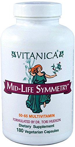 Vitanica – Mid-life Symmetry, 50-65 High Potency Multivitamin and Mineral, Vegan, 180 Capsules