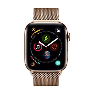 AppleWatch Series4 (GPS+Cellular, 44mm) – Gold Stainless Steel Case with Gold Milanese Loop