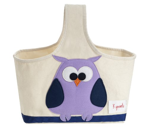 3 Sprouts Storage Caddy, Owl (Gift Caddy)