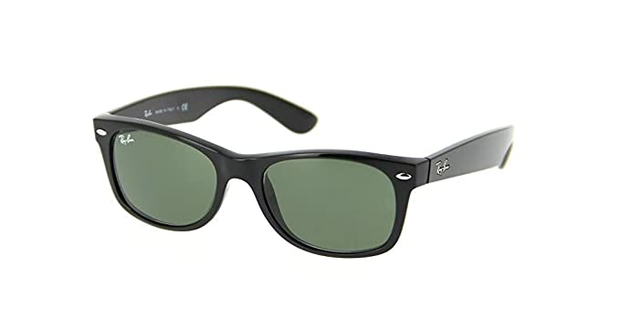 38997c1920109 Ray-Ban RB2132 New Wayfarer Classic Unisex Sunglasses (Black Frame Green G-