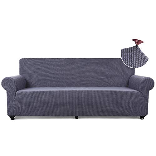 TASTELIFE Sofa Slipcover 1-Piece Thickened Stretch Fabric Furniture Protector Cover for Sofa Loveseat Chair Couch Cover 3 Seaters (Sofa, Grey)