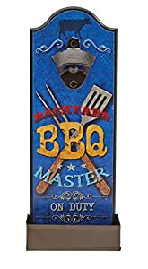 Backyard BBQ Master On Duty Wall Mounted Bottle Opener by Boston Warehouse