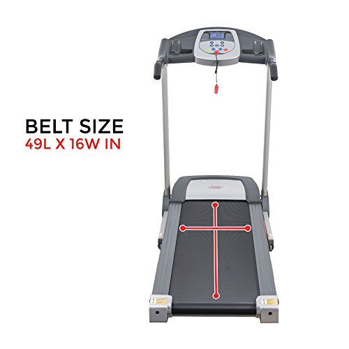 Sunny Health & Fitness SF-T7603 Electric Treadmill w/ 9 Programs, 3 Manual Incline, Easy Handrail Controls & Preset Button Speeds, Soft Drop System by Sunny Health & Fitness (Image #11)