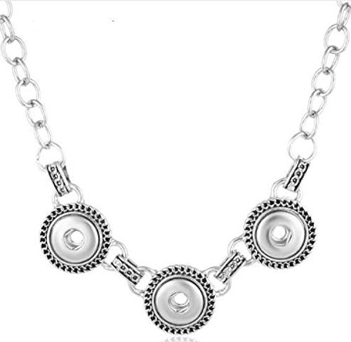 My Prime Gifts Mini 12mm Snap Jewelry Designer Necklace Length 18