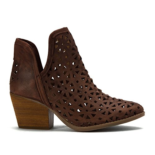 Bootie Women's amp; Musse Brown Dark Cloud Athena Ankle EXqqdr
