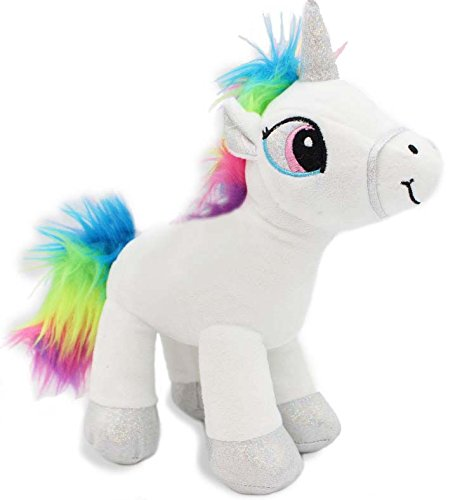 Unicorn Stuffed Animal Plush Toy Soft Rainbow White 12 inch (Soft Plush Animal)