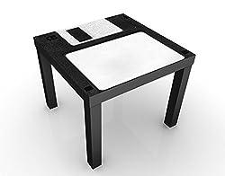 Apalis Tavolino design Floppy Disk Label 55x55x45cm, Tischfarbe:schwarz;Größe:55 x 55 x 45cm
