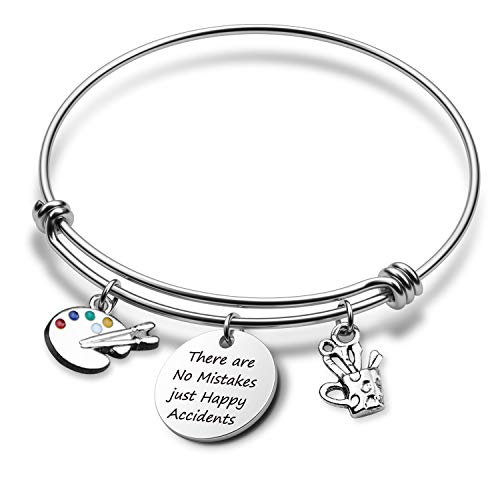Artist Gift There are No Mistakes just Happy Accidents Bracelet Painter Gift