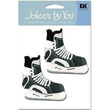 "Jolees NOM351449 By You Stickers 4"" x 4"" Sheet, Ice Hockey Skates"