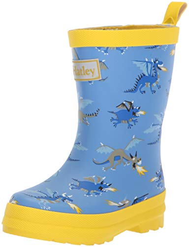Hatley Kids Baby Boy's Limited Edition Rain Boots (Toddler/Little Kid) Fire Breathing Dragons Blue/Yellow 8 M US Toddler - Blue Breathing Fire Dragon