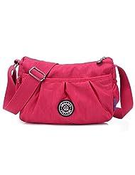 Bagtopia Women's Light Small Nylon Cross Body Shoulder Bag Waterproof Pleated Satchel Purse for Girls