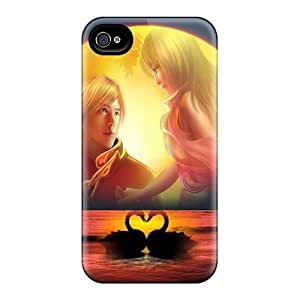 High Impact Dirt/shock Proof Case Cover For Iphone 4/4s (love Romantique)