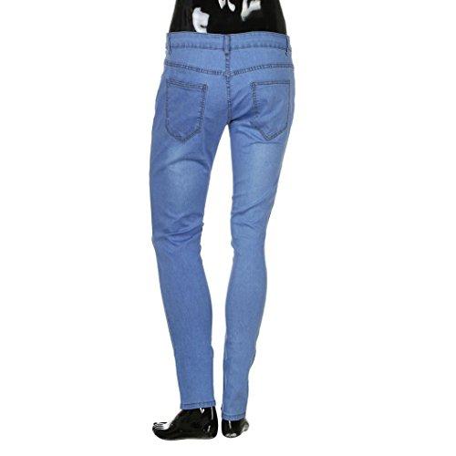 Hommes Extensible Elastique Jeans Jean Troué Ursing Fit Skinny Et Ouvert Denim poches Pour Avec Serré Pantalon Slim Déchiré Muti Fashion Des Bleu Genou En qEtpqwWHPX