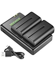 Neewer NP-F550 Battery Charger Set for Sony NP F970,F750,F960,F530,F570,CCD-SC55,TR516,TR716,and More (2-Pack Replacement Battery, Dual Slot Charger)