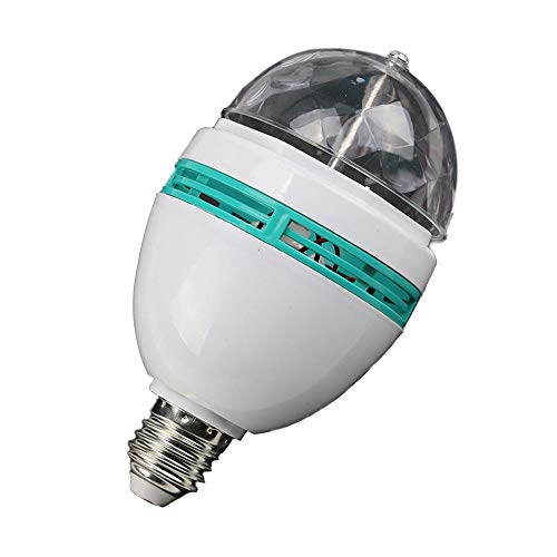 Winner666 2019 B22 E27 Colorful Rotating Stage RGB LED Light Bulb Flashing Disco DJ KTV Lamp (White)