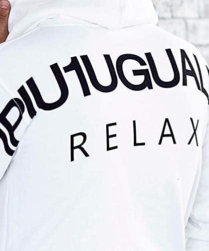 ウノピュウウノウグァーレトレ リラックス(1PIU1UGUALE3 RELAX) 1PIU1UGUALE3 RELAX バックロゴプリントプルオーバーパーカー【black/M】