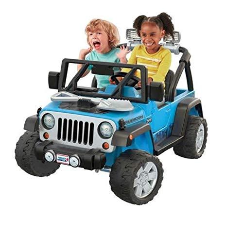 (Power Wheels Deluxe Jeep Rubicon Wrangler 12V Ride-On, Blue)