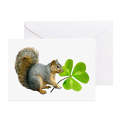 CafePress - Shamrock Squirrel - Greeting Card, Note Card, Birthday Card, Blank Inside Matte