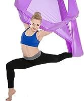 Himifuture - Hamaca de Yoga de 5 m de Largo, 3 m de Ancho, con mosquetón y Cadena de Margaritas para Yoga, Pilates antigravedad