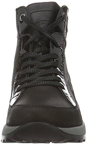 Waldläufer Hiroko, Zapatillas de Estar por Casa para Mujer Negro - Schwarz (Tender Softlack Schwarz)
