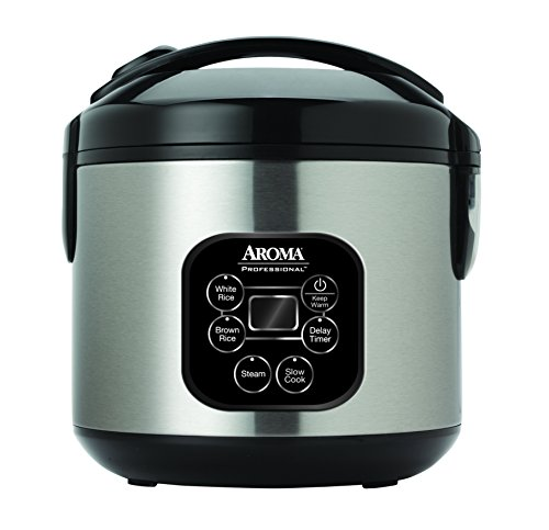 Aroma Professional Rice Cooker / Multicooker, Silver (ARC-934SBD) by Aroma Housewares
