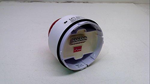 Horn Strobe, White/Red, ABS, 18 to 30VDC