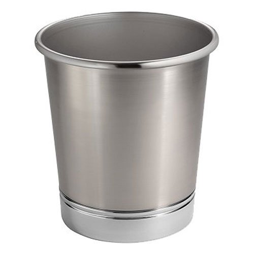 interDesign York MTL Waste Can, Split Finish