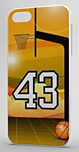 Basketball Sports Fan Player Number 43 Clear Rubber Decorative iphone 5c Case