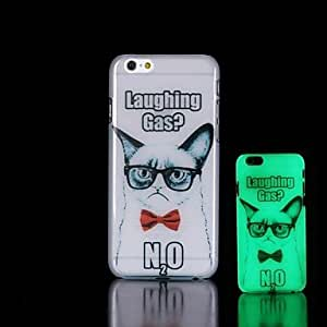 ZXSPACE Cat Pattern Glow in the Dark Hard Case for iPhone 6