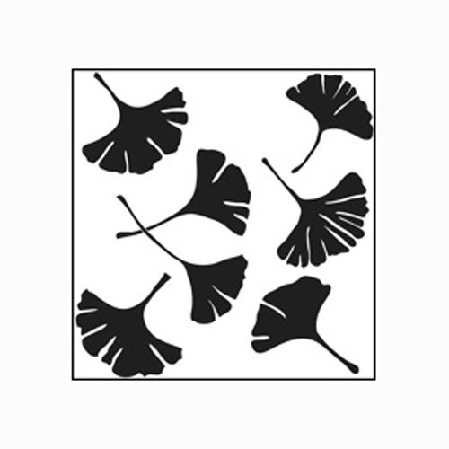 Stencil Leaf - Stencil 6in x 6in Ginkgo Leaves