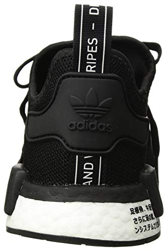 adidas Originals Unisex NMD_R1 Running Shoe, Black/Orchid Tint, 3.5 M US Big Kid by adidas Originals (Image #2)