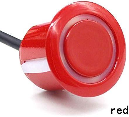 Hearthrousy :Sensor de Aparcamiento Radar Aparcamiento Sensor Kit con 8 Sensores Automóvil Radar de Marcha Atrás Detector de Automóvil Asistencia para ...
